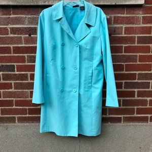 Light blue spring trench coat by Willi Smith